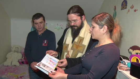 Episcop Macarie Drăgoi cu familia Nan