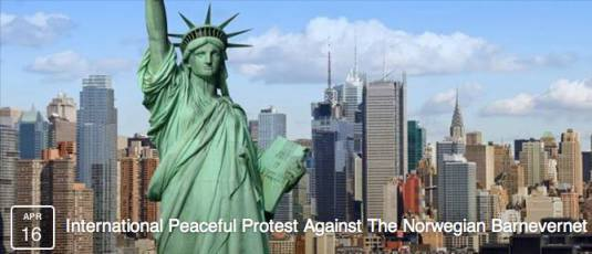 Protest against Barnevernet in New York