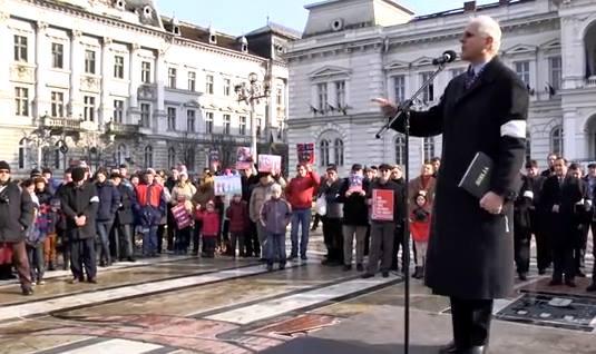 VIorel Iuga Protest Bodnariu la Arad 2